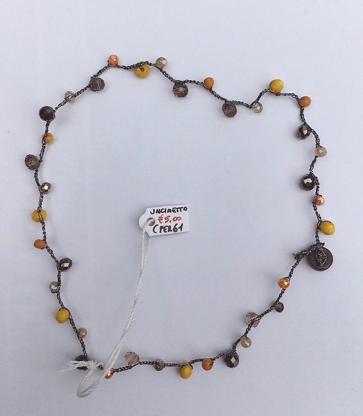 Collana Perline Uncinetto CPer61