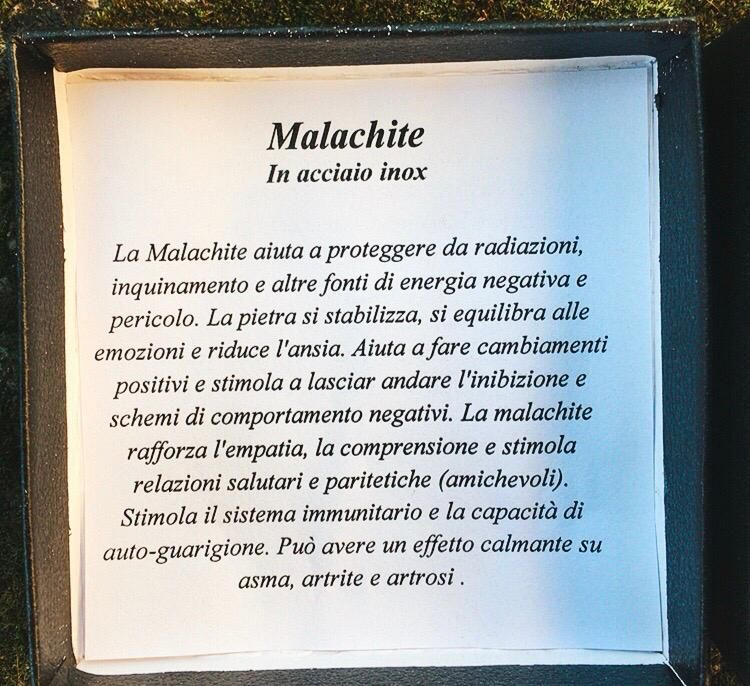 Braccialetto nice Malachite BOni104
