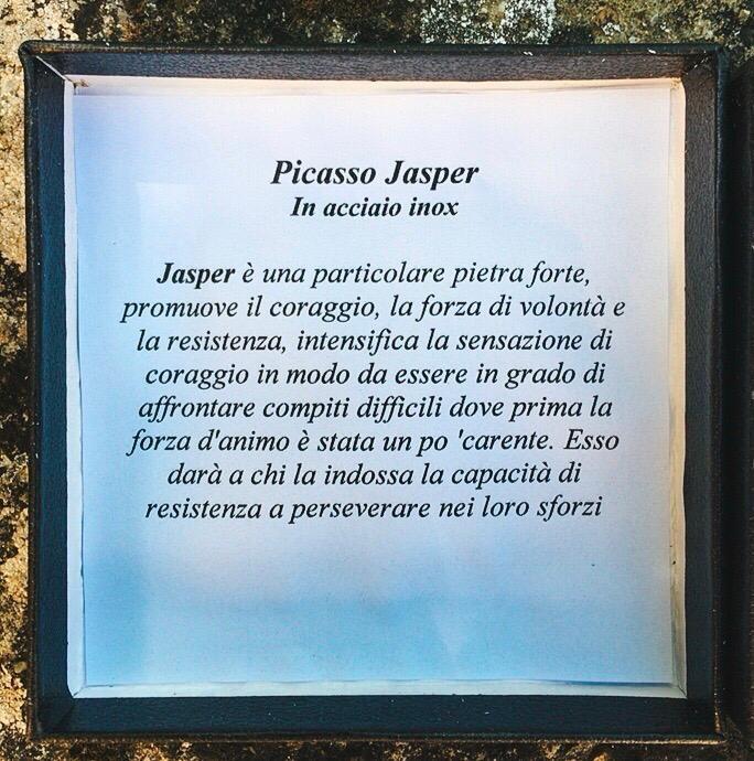 Braccialetto Picasso Jasper Pietra Lavica BPJas19