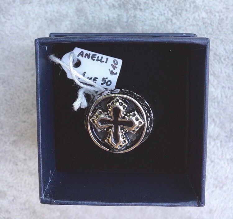 Anello Acciaio Croce Ane50