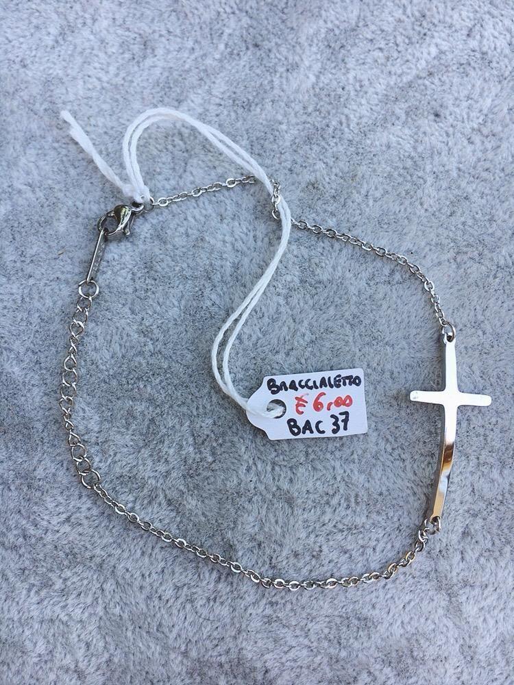 Braccialetto Acciaio Croce BAc37