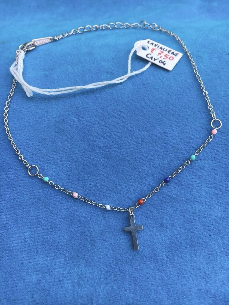 Cavigliera Acciaio Croce CAv04