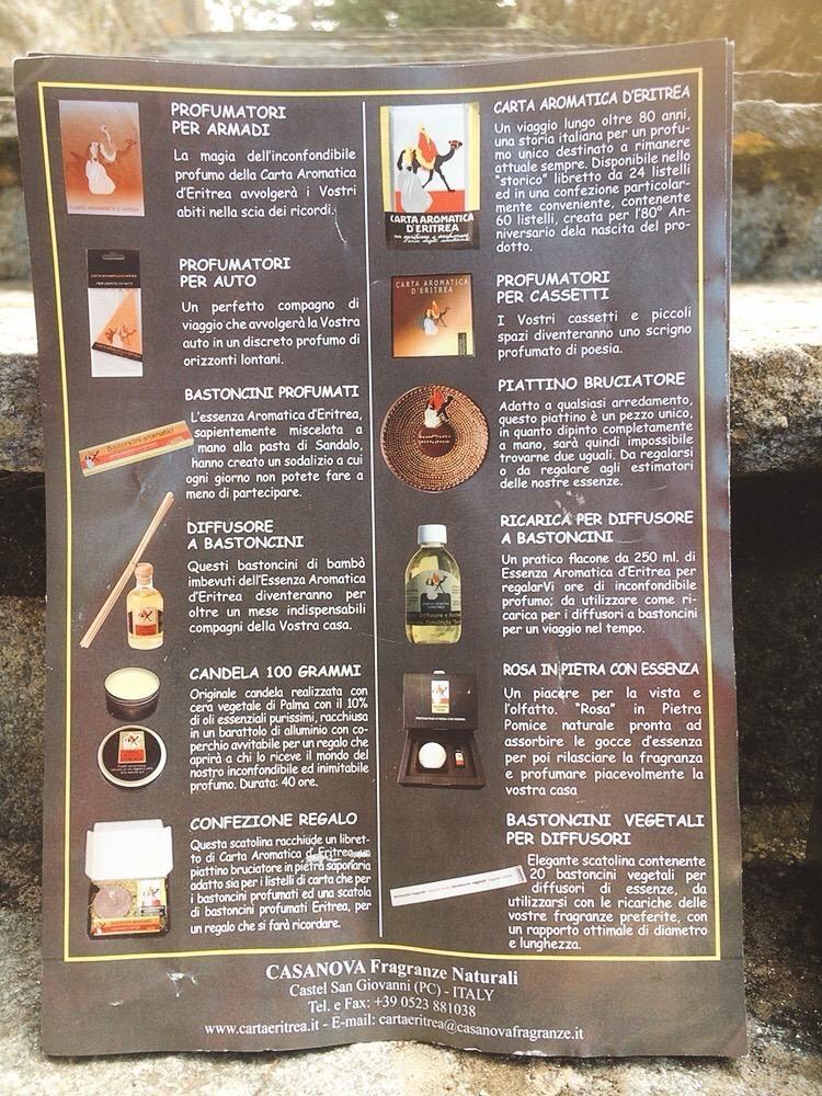 Carta Aromatica d'Eritrea CAs01