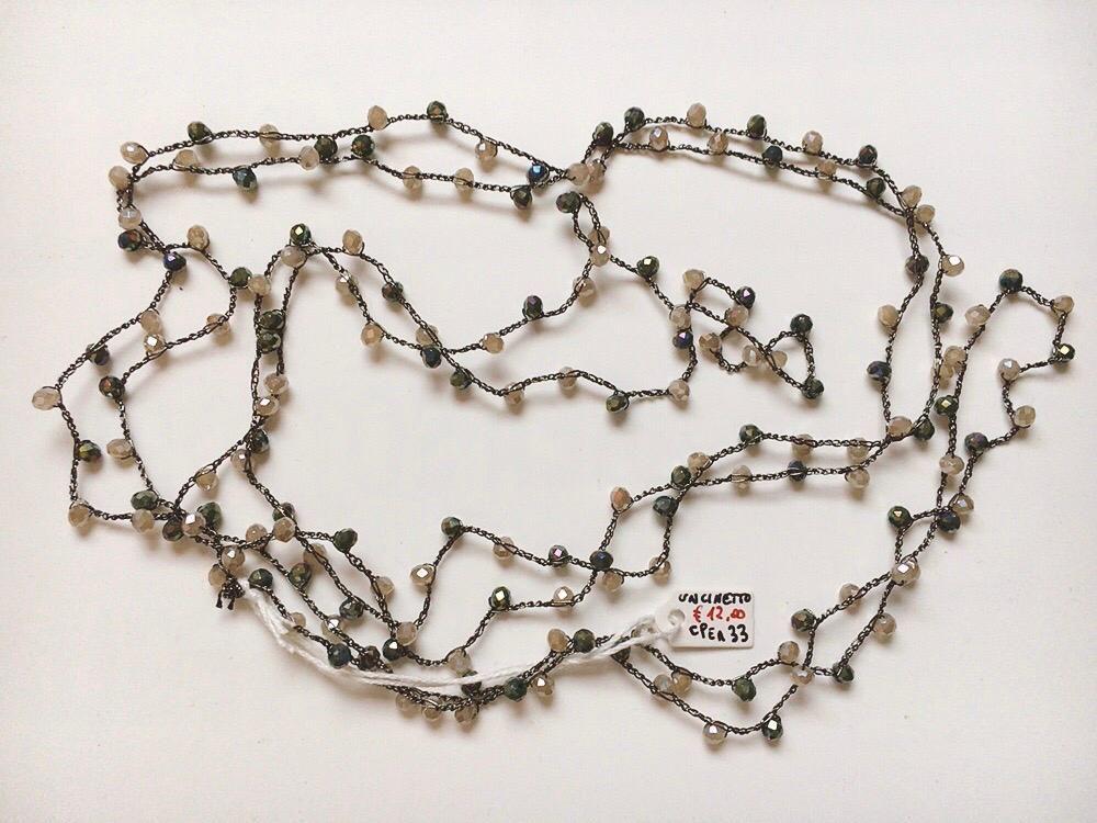 Collana Perline Uncinetto CPer33