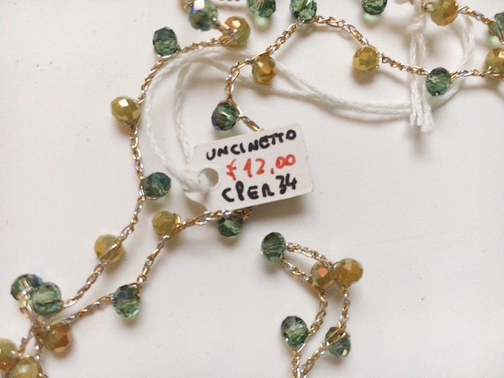 Collana Perline Uncinetto CPer34