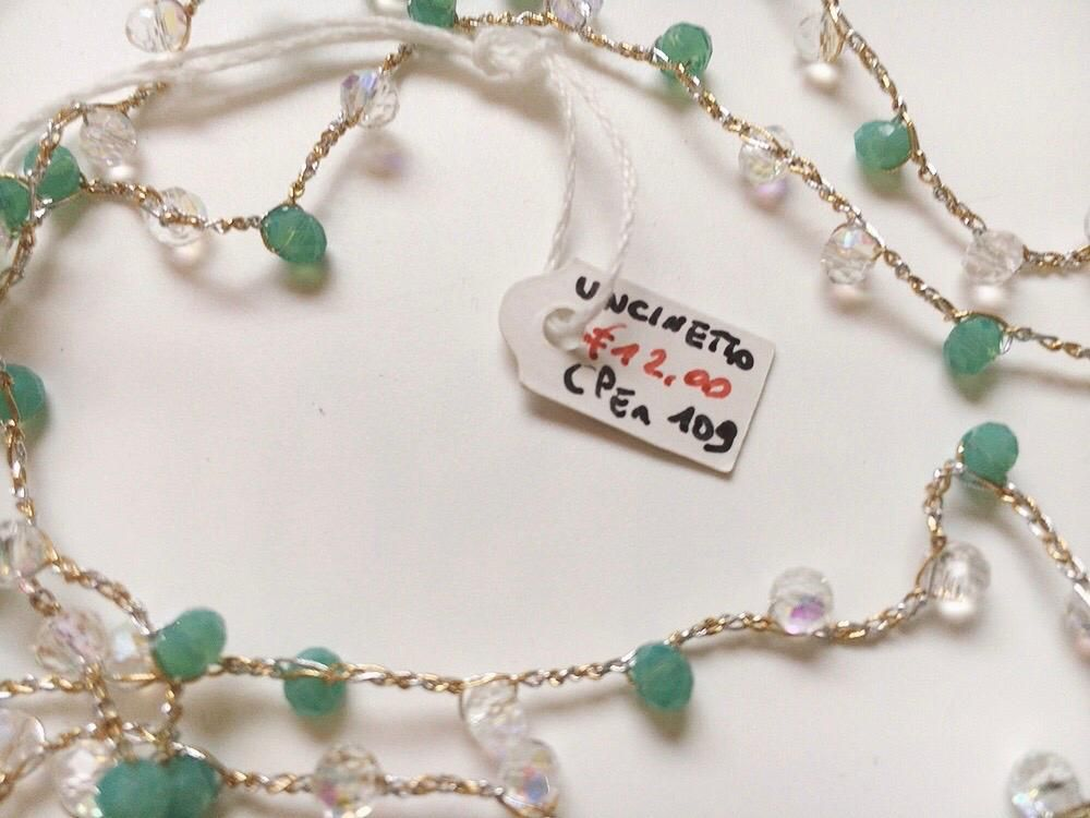 Collana Perline Uncinetto CPer109