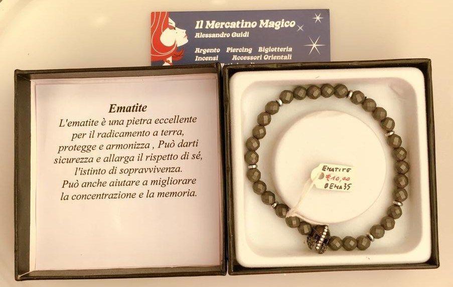 Braccialetto Ematite BEma35