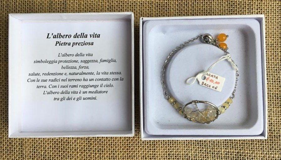 Braccialetto Agata Albero Vita BAga06
