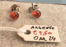 Orecchini Argento Cristallo Rosso OAr24