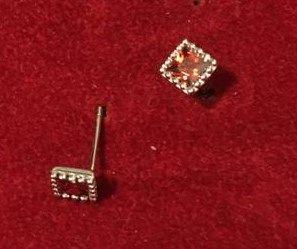 Orecchini Argento Cristallo Rosso OAr07