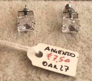 Orecchini Argento Cristallo Bianco OAr27