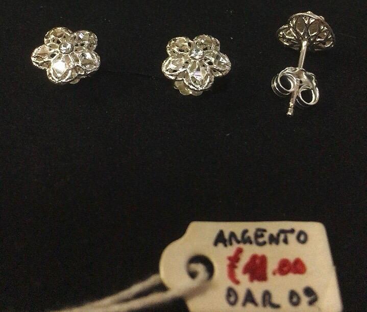 Orecchini Argento 925 Fiore OAr09
