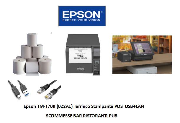 Stampante Epson TM-T70II Lan/Usb  per scontrini