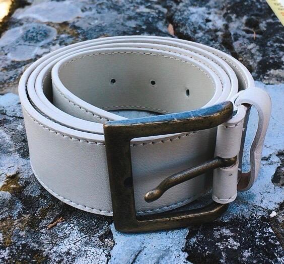 Cintura Pelle Bianca C102
