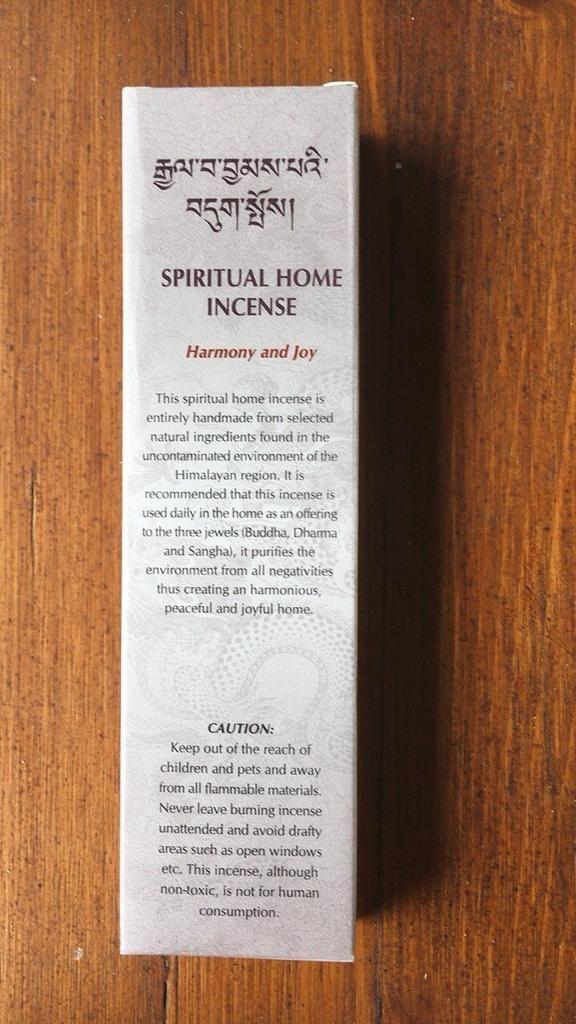 Incenso Spiritual Home Gan03