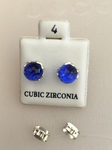 Orecchini Luce Blu CZ004