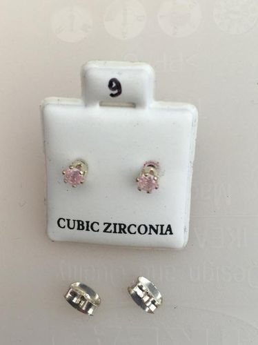 Orecchini Cristalli Rosa CZ009