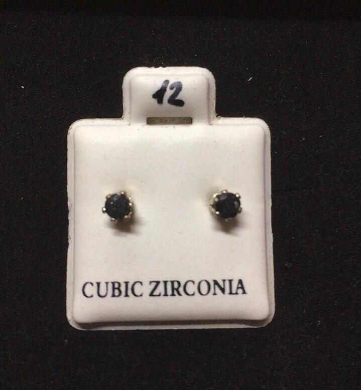 Orecchini Cristallo Nero CZ012