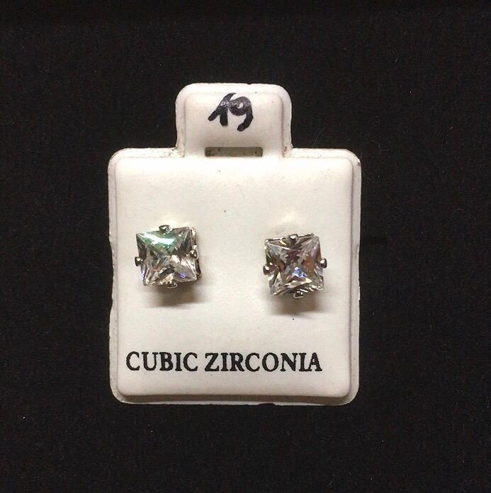 Orecchini Cristallo Bianco CZ019