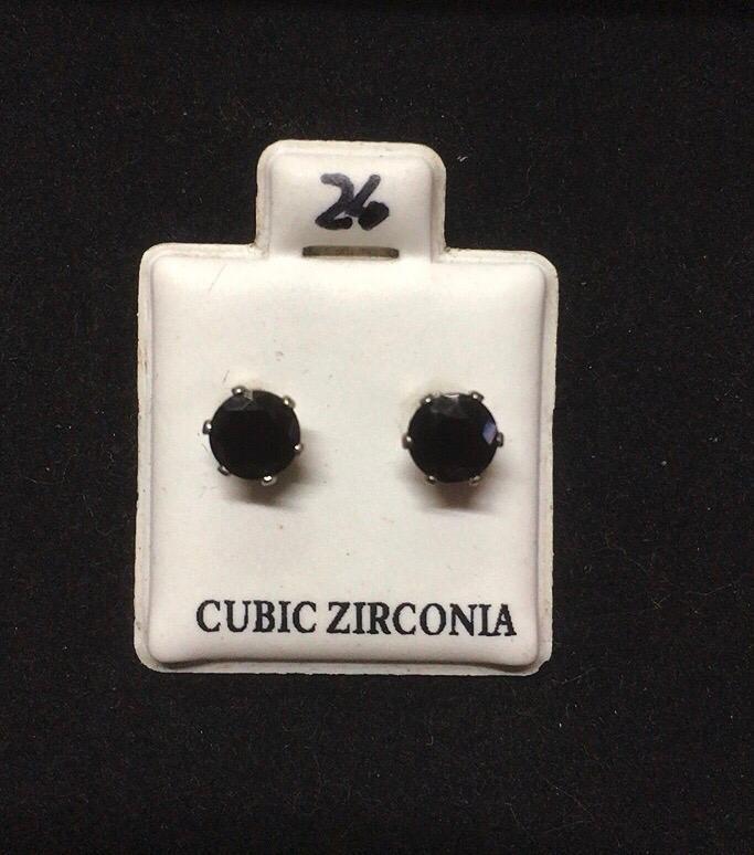 Orecchini Cristalli Neri CZ024