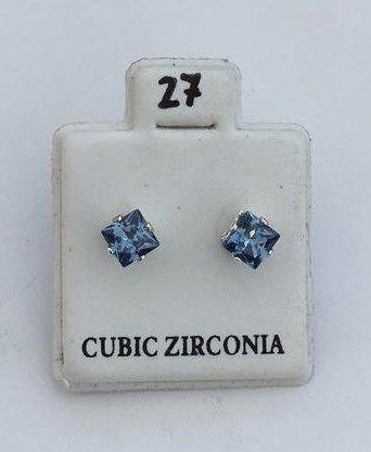 Orecchini Cristalli Blu CZ027