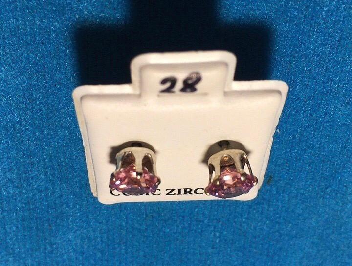Orecchini Cristallo Rosa CZ028