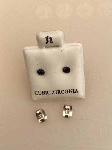 Orecchini Cristalli Neri CZ032