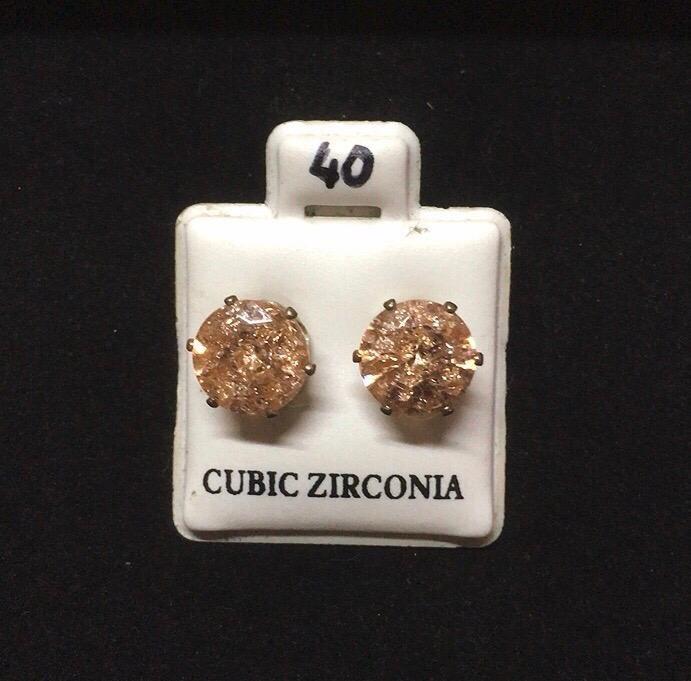 Orecchini Cristallo Giallo CZ040