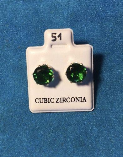 Orecchini Cristalli Verdi CZ051