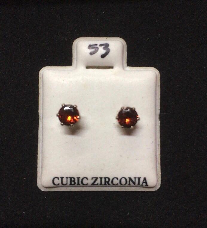 Orecchini Cristallo Rosso CZ053
