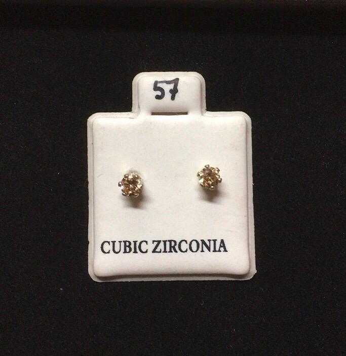 Orecchini Cristalli Ocra CZ057