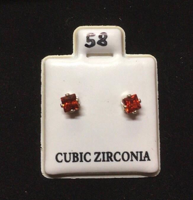 Orecchini Cristallo Rosso CZ058