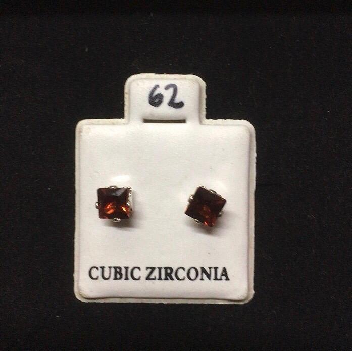 Orecchini Cristallo Rosso CZ062