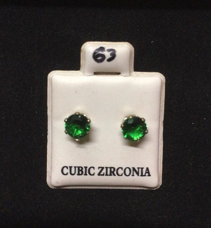 Orecchini Cristallo Verde CZ063