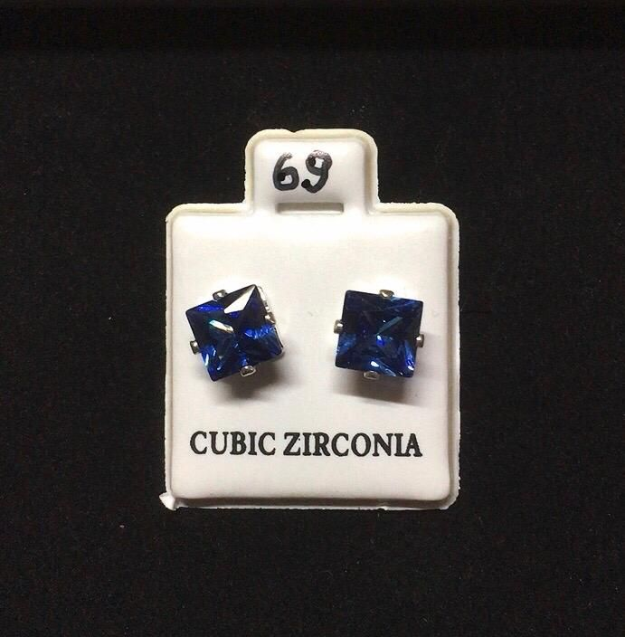 Orecchini Cristalli Blu CZ069
