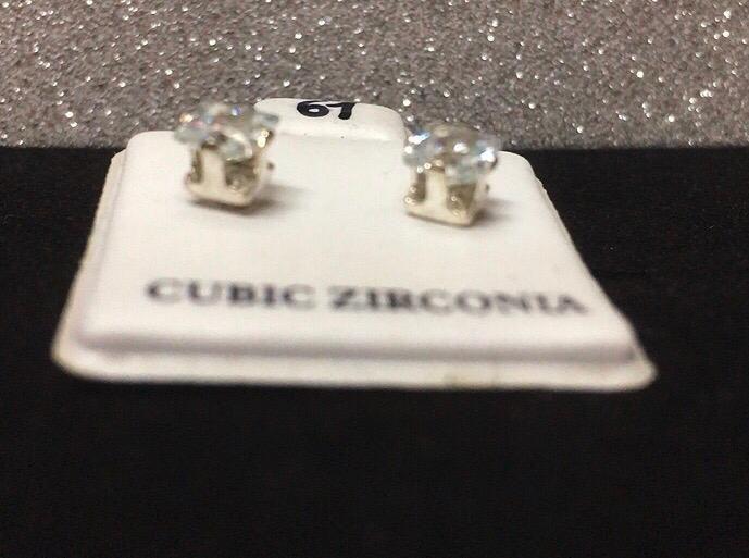 Orecchini Cristallo Bianco CZ061