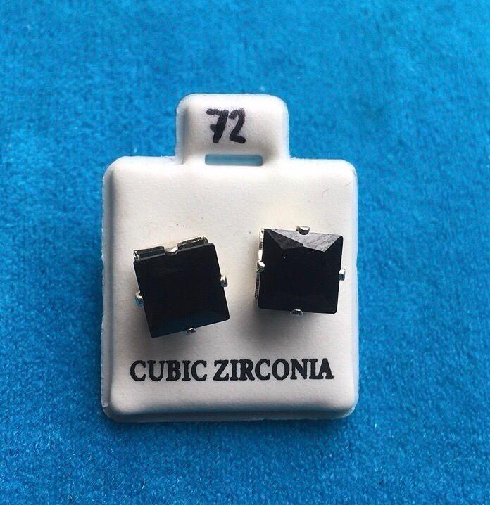 Orecchini Cristalli Neri CZ072