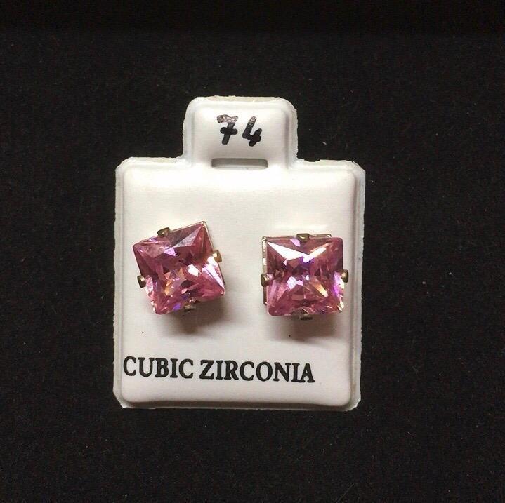 Orecchini Cristalli Rosa CZ074