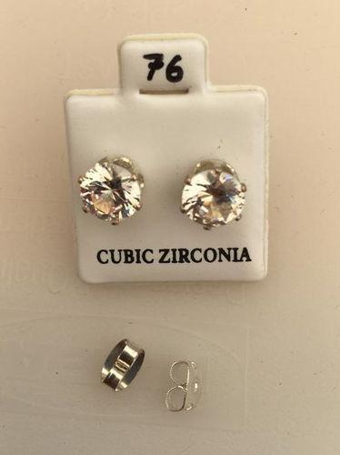 Orecchini Cristallo Bianco CZ076