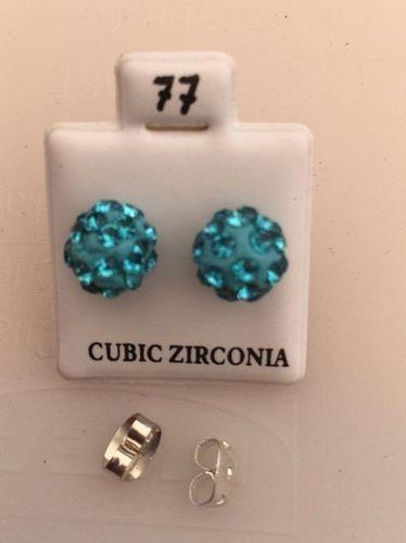 Orecchini Palline Azzurre CZ077