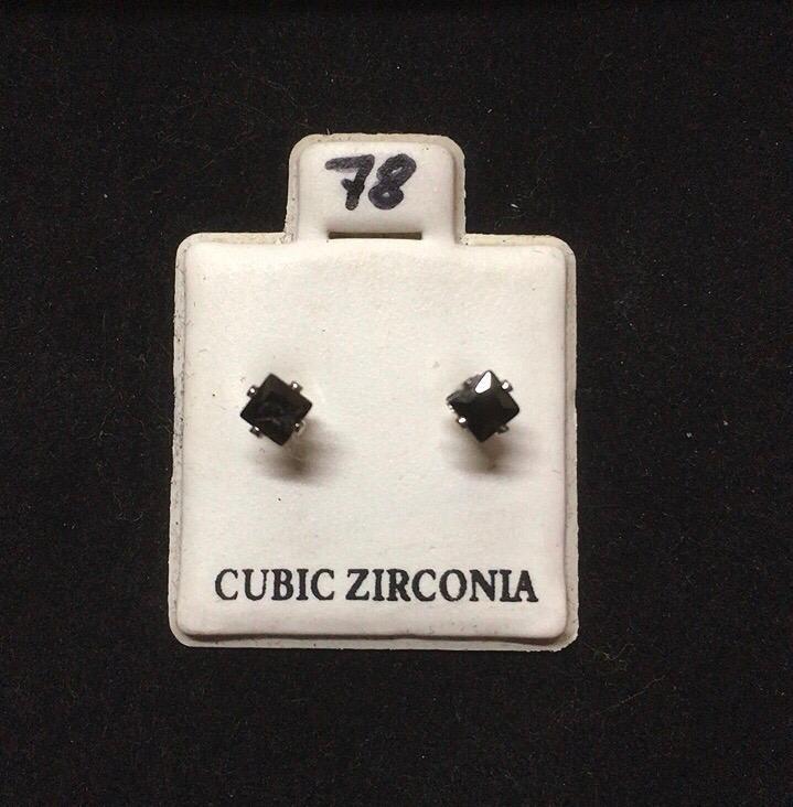 Orecchini Cristallo Nero CZ078