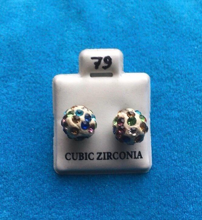 Orecchini Palline Colorate CZ079