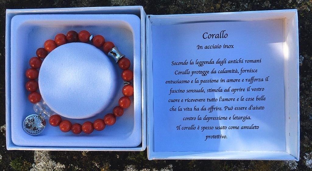 Braccialetto Corallo Bamboo BCor08