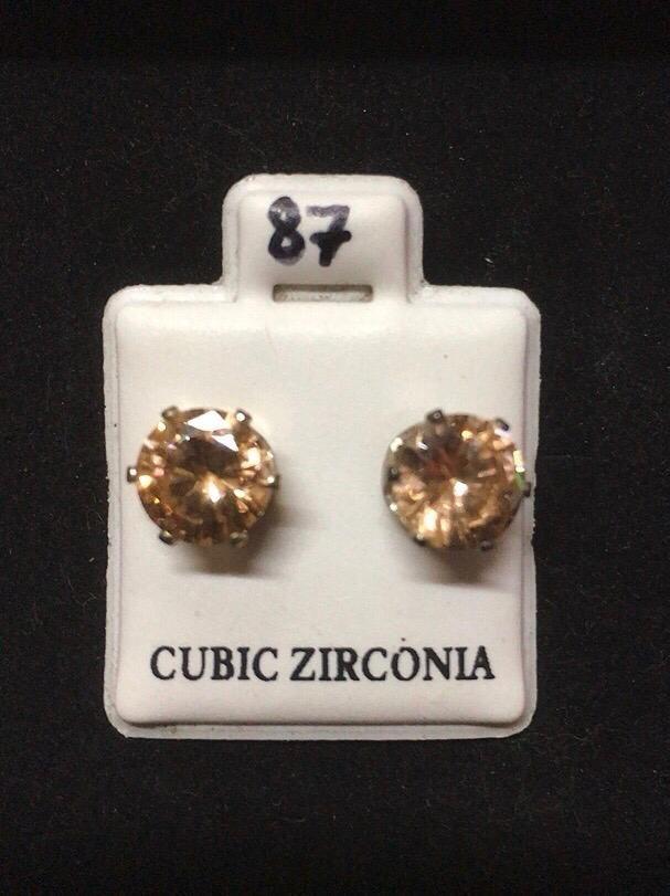 Orecchini Cristalli Beige CZ087