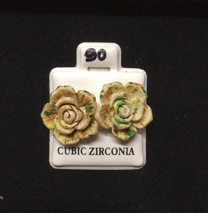 Orecchini Rose Fimo CZ090