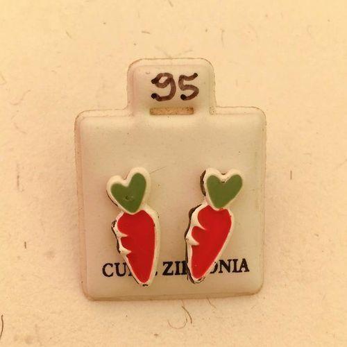 Orecchini Carotine Rosse CZ095
