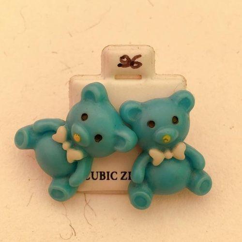 Orecchini Orsetti Azzurri CZ096