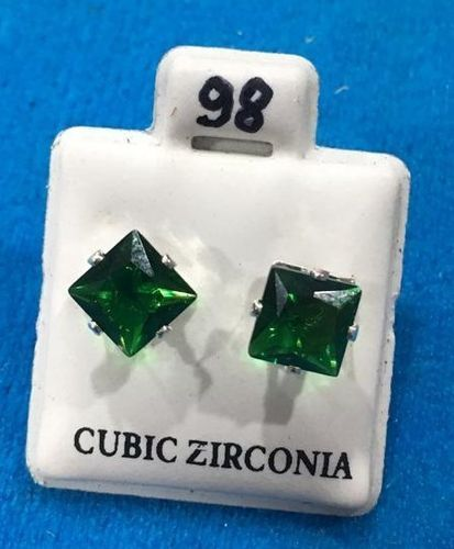 Orecchini Cristalli Verdi CZ098