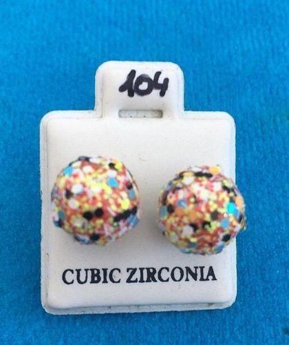 Orecchini Palline Multicolor CZ104