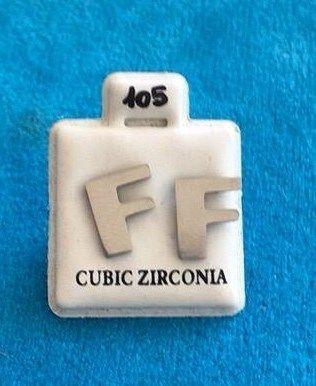Orecchini Lettere F CZ105